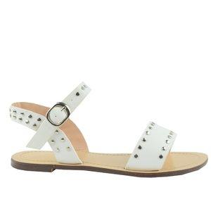 Women's Sling Back Neon White Flat Sandal